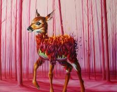 Who killed Bambi, The Still Life series, oil on canvas, 80x80 cm, 2015.jpg